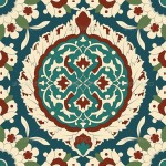 Arabesque seamless pattern 01